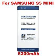 Losoncoer 5200mAh EB-BG800CBE Battery For Original Samsung Galaxy S5 Mini Batter - $18.11