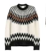 NWT ERDEM x H&M Cream & Brown  Knit Mohair Blend Sweater SZ S SOLD OUT - $325.71