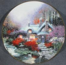 Swanbrook Cottage Thomashire Series Thomas Kinkade Collector Plate with COA - $29.97