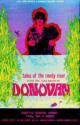 Primary image for Donovan - Tales of the Reedy River - 1968 - Seattle - Concert Poster