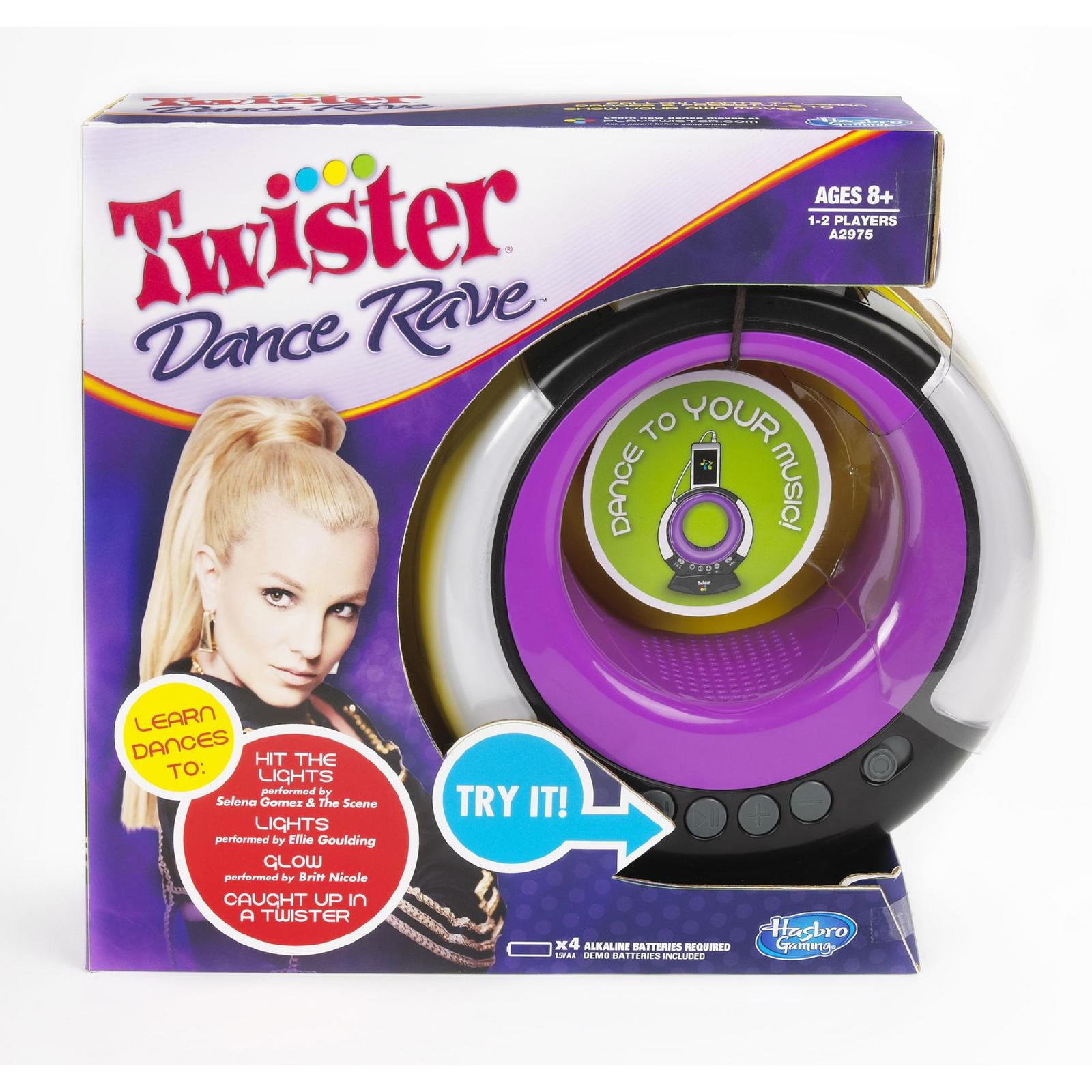 Twister Dance Rave Game 2013 Hasbro battery operated party  H20