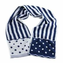 "[NAVY] Cute Stripe and Dot Cotton Active-Dry Gym/ Workout Towel, 7.9""x 46"""