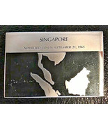 Franklin Mint Silver Ingot SINGAPORE Flags of the U.N. United Nations  4... - $26.73