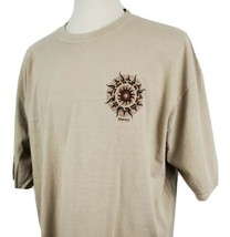 Crazy Shirts Hawaii Tribal Sun Design T-Shirt 2XL Double Sided Kona Coff... - $21.99