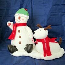 Hallmark Animated Musical Jingle Pals Snowman Dog Jingle Bells Reindeer VIDEO - $49.49
