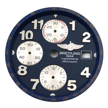 Breitling Blue Arabic Dial Silver Subdials 32mm For Mens Chrono Watch - $199.00