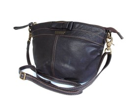 Auth Burberry Blue Label Leather Dark Brown Cross-body Shoulder Bag BS0393 - $149.00