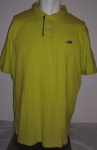 Nike Sportswear SB Air Max Logo Hyper Neon Yellow  Polo Shirt Mens XXL 2XL - $25.73