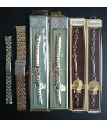 Vintage Stainless Steel Watch Band Metal Watch Strap Wristwatch Band Lot - $50.39
