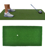 60x30cm Green Golf Practice Mat Indoor Training Backyard Hitting Grass D... - $29.23
