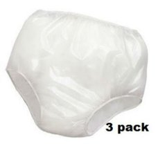 3PK Reliamed Adult Waterproof Soft Vinyl Plastic Pant Diaper Incontinent... - $20.86