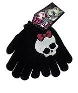 Monster High Black Skullette Girls Knit Winter Gloves - $8.90