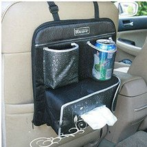 PANDA SUPERSTORE Car Seat Back Organizer Suspension Type Storage Bag,Black