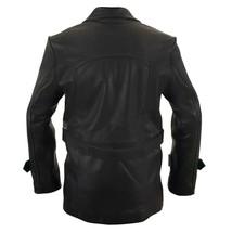 Christopher Eccleston Ninth Doctor Who Black Leather Jacket Biker Coat image 2