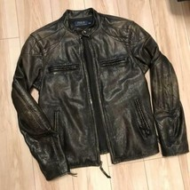 POLO RALPH LAUREN Authentic Vintage processing Cowhide Jacket Mens Size S Used - $1,029.99
