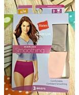 Hanes Premium seamless smoothing 2 briefs panty panties  Sz M / 6 New - $9.49
