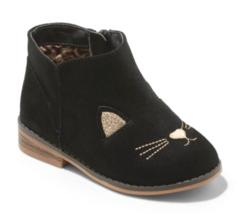 Cat & Jack Girls' Esylit Kitty Cat Black Gold Fashion Boots Toddler 9 US NWT