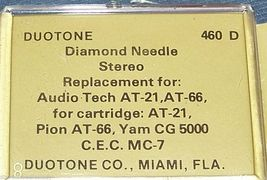 TURNTABLE STYLUS RECORD PLAYER NEEDLE for Technica AT-21 AT-66 N-5000 635-D7 image 3