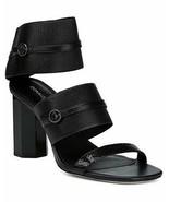 NEW DONALD PLINER 8.5 shoes sandals black leather elastic heels designer... - $96.03