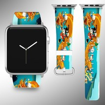 Scrooge McDuck Disney Apple Watch Band 38 40 42 44 mm Fabric Leather Strap 01 - $24.97