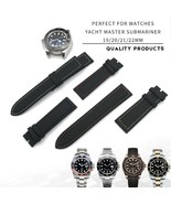 19 20 21 22mm Nylon Cowhide Watch Strap Watchband Fashion Style Wrist Wa... - $48.87