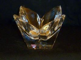 """Orrefors Crystal Lotus Signed Vase Tulip Design Sweden w Label 5 3/4""""  - $15.84"""