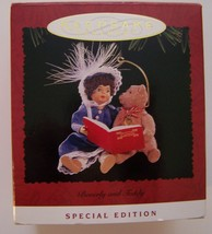 "HALLMARK KEEPSAKE ""BEVERLY and TEDDY"" Christmas Ornament Special Ed Vint... - $7.60"