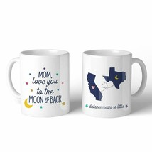 Love Mom Moon And Back Custom 11oz Personalized Ceramic Mug Gifts - $19.99