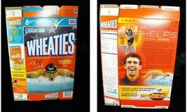 Wheaties Cereal Box Flat Empty Michael Phelps 15.6 oz 2012 - $16.99