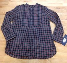 Ralph Lauren Girls' Long Sleeve Shirt Guide, Black Multi, Size 5 - $21.77