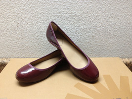 Ugg Antora Ii Deep Bordeaux Patent Leather Flats Slip On Us 8.5 / Eu 39.5 / Uk 7 - $46.74