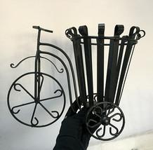 Iron Vases Flower Pot Plant Holder Rickshaw Three Tier Decorative Basket... - $56.12