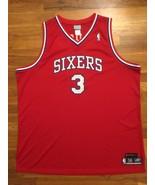 Authentic Reebok Philadel 76ers Sixers HWC Allen Iverson Red Road Away J... - $309.99
