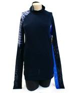 Nike Pro Hypercool Obsidian Blue Mock Neck Long Sleeve Training Top Wome... - $56.24