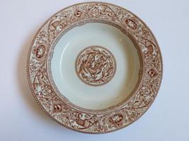 RARE Staffordshire Earthenware Borgia H&C 1872 brown white European soup... - $123.75