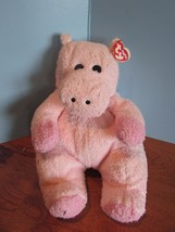 "Ty HIPPOBABY Rattle Baby Hippo Pink 12"" Plush MWT 2000 Stuffed Animal Toy - $24.75"