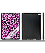PERSONALIZED RUBBER CASE FOR iPad Air 1 2 Mini 1 2 3 4 PINK LEOPARD CHEETAH - $15.98