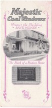 1915 Illustrated Advertising Brochure for Majestic Coal Window and Chute... - $15.83