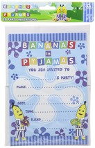 20 Amscan Blue Bananas In Pyjamas Birthday Party Invitations With Envelopes - $3.07