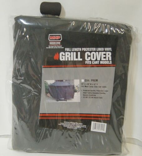 MHP CV4PREM Full Length Polyester Lined Vinyl Grill Cover Color Black