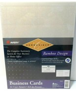 Avery Printable Business Cards, Laser Printers, 200 Cards, 2 x 3.5 Bambo... - $15.46