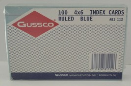 GUSSCO 100 Index File Cards Ruled Blue #81 USA - $5.67