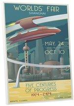 "Pingo World 0208QBJF9KA ""Steve Thomas Worlds Fair Shanghai"" Gallery Wrap... - $53.41"