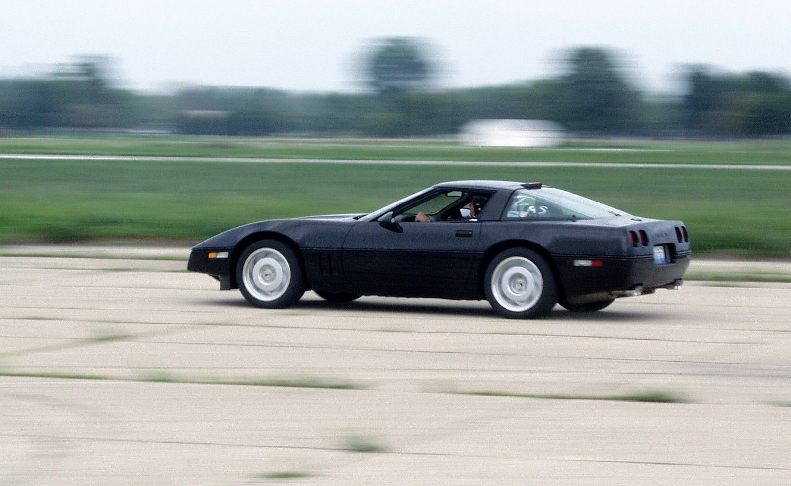 Primary image for 1992 Chevrolet Corvette c4 on track POSTER 24 x 36 inch | black