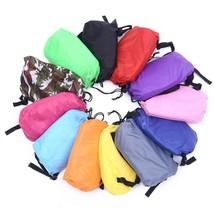 Drop shipping Fast Inflatable Lazy bag Sleeping Air Bag Camping Portable Air Sof - $24.00