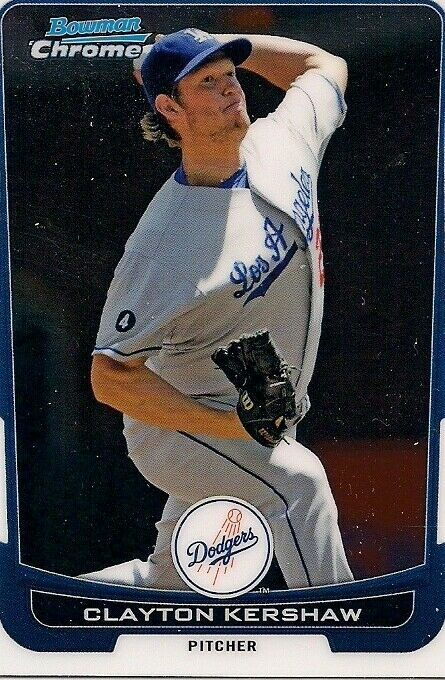 Primary image for 2012 Bowman Chrome #45 Clayton Kershaw Los Angeles Dodgers Baseball Card