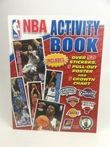 NBA Activity Book with 50 Stickers Poster Growth Chart Coloring Book Ben... - $15.79