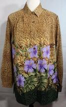 Maggie Sweet women's vintage blouse animal print long sleeve size L - $38.60