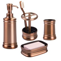 InterDesign 4-Piece Bathroom Vanity & Countertop Organizer Set: Sutton Soap Pump - $66.80