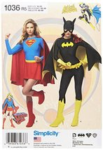 Simplicity Supergirl and Bat Girl Costume Sewing Patterns for Women, Siz... - $3.90